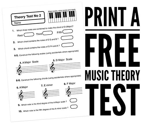 Free Music Theory Worksheets