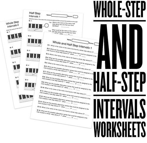 Music Intervals Worksheets 300 Printable Music Worksheets