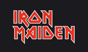 Iron Maiden Logo - red on black
