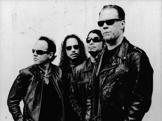 Metallica - band picture - black and white