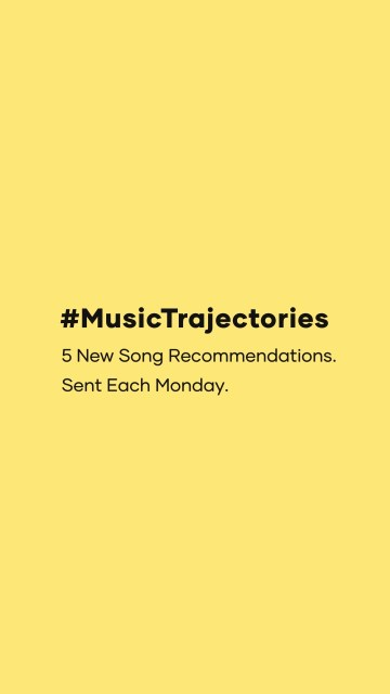#musictrajectories