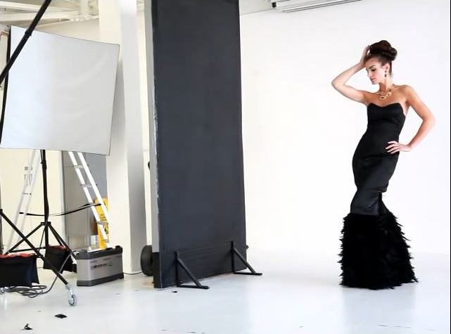 Fashion shoot behind scenes