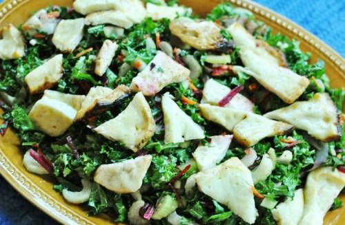 kale haloumi salad