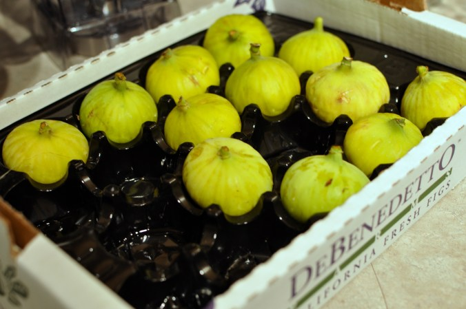 case of green fresh figs