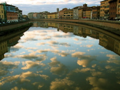 clouds on Arno, enhanced