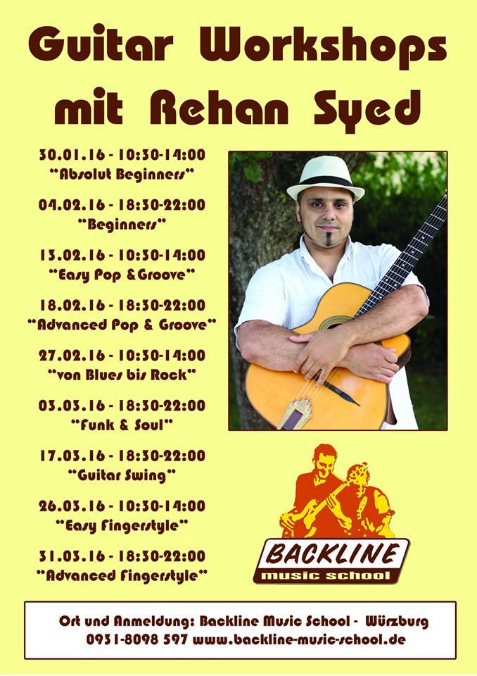 Guitar Workshops mit Rehan Syed