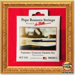 Pepe Romero Strings powered by La Bella US1 Ukulelen Saiten Sopran:Concert 34001