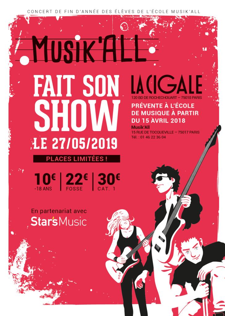 Une très belle scène parisienne pour le concert de fin d'année de l'école Musik'All