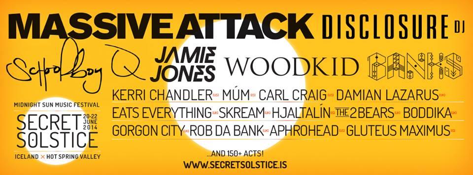 Secret Solstice Lineup 2014