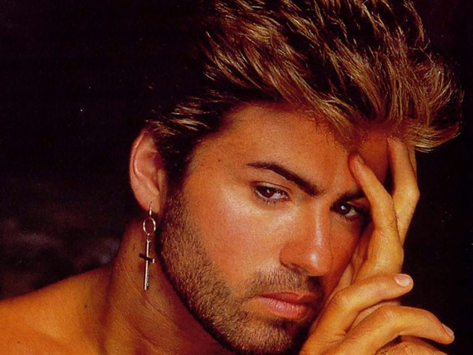 Foto. George Michael / Póster del álbum Faith