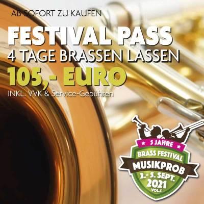 Festival-Pass Musikprob Brassfestival 2021