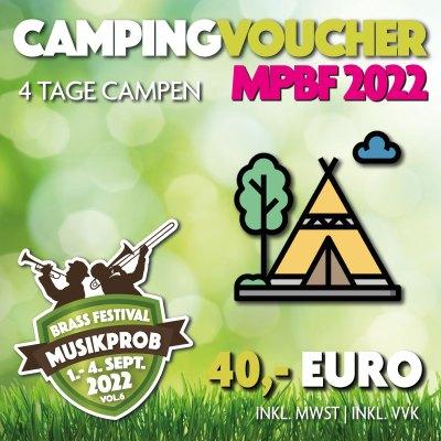 Camping Voucher Musikprob Brassfestival 2022