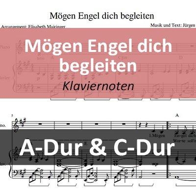Mögen Engel Dich Begleiten Klaviernoten Sofort Downloaden