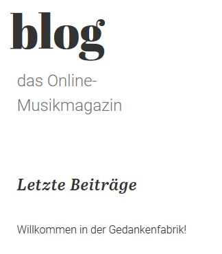 Adé zur guten Nacht, liebes Blog.