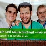 Medizin und Menschlichkeit [Plakat]. Foto: Hufner