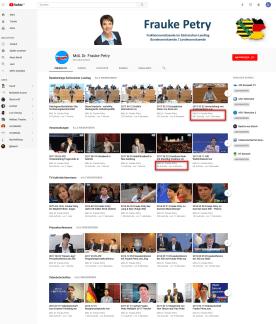 YouTube Kanal Frauke Petry