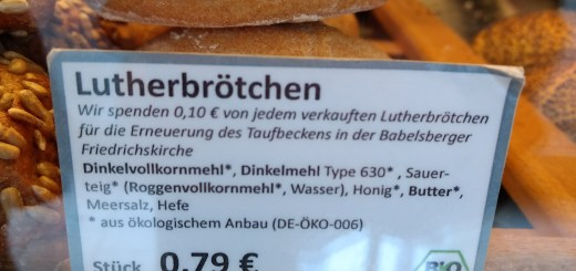 Lutherbrötchen. Foto: Hufner