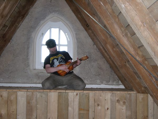 Bruckner-Schüler Dr. Hufner beim Toning-Training. Foto: Hufner