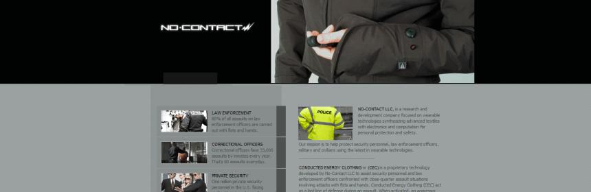 Website no contact - screenshot