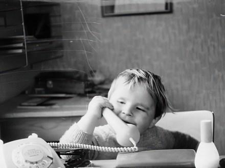 Hufi am Telefon. Foto: Kurt Hufner