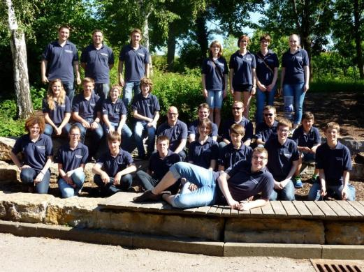 Jugendkapelle nach dem Wertungsspiel (06/2013)
