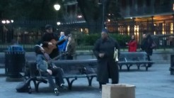Performers in Jackson Square