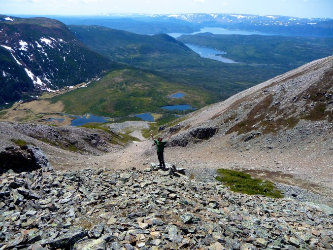 About halfway up Gros Morne