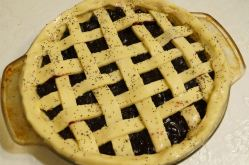 Filled with berry goodness and covered in a lattice