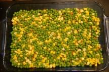 Yummy fresh peas and corn