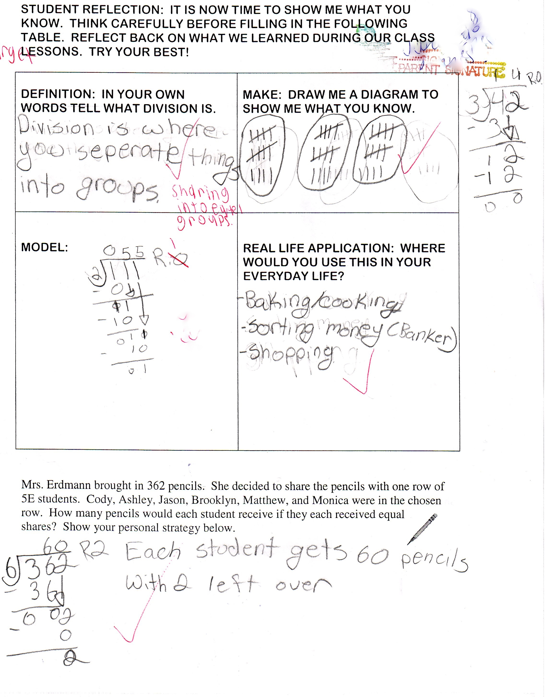 Frayer Model And Personal Choice Assessment For Division