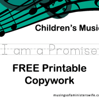 FREE I am a Promise Printable Copywork
