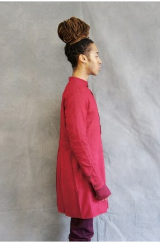 washed silk preist shirt red (3)-350x531
