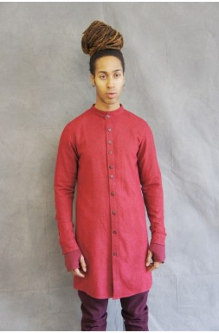 washed silk preist shirt red (4)-350x531