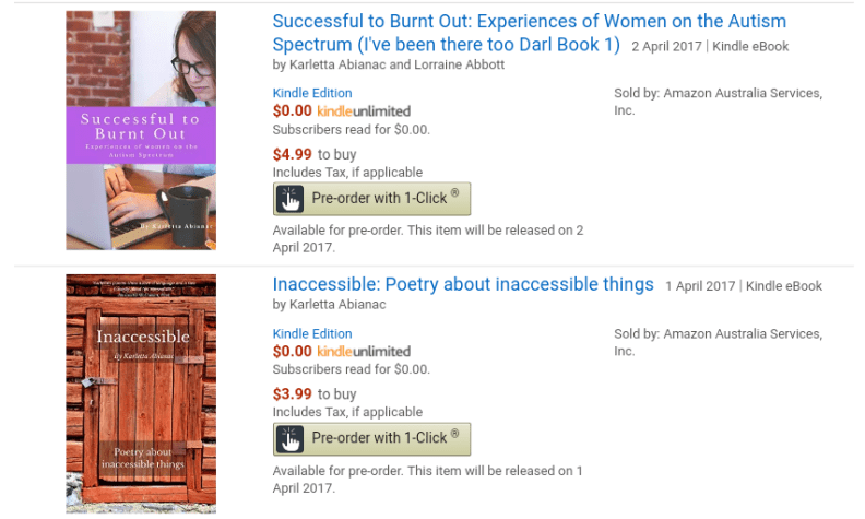 A link to my eBooks in the Kindle store