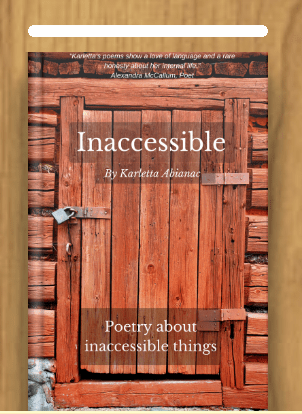 Cover of my poetry eBook Inaccessible