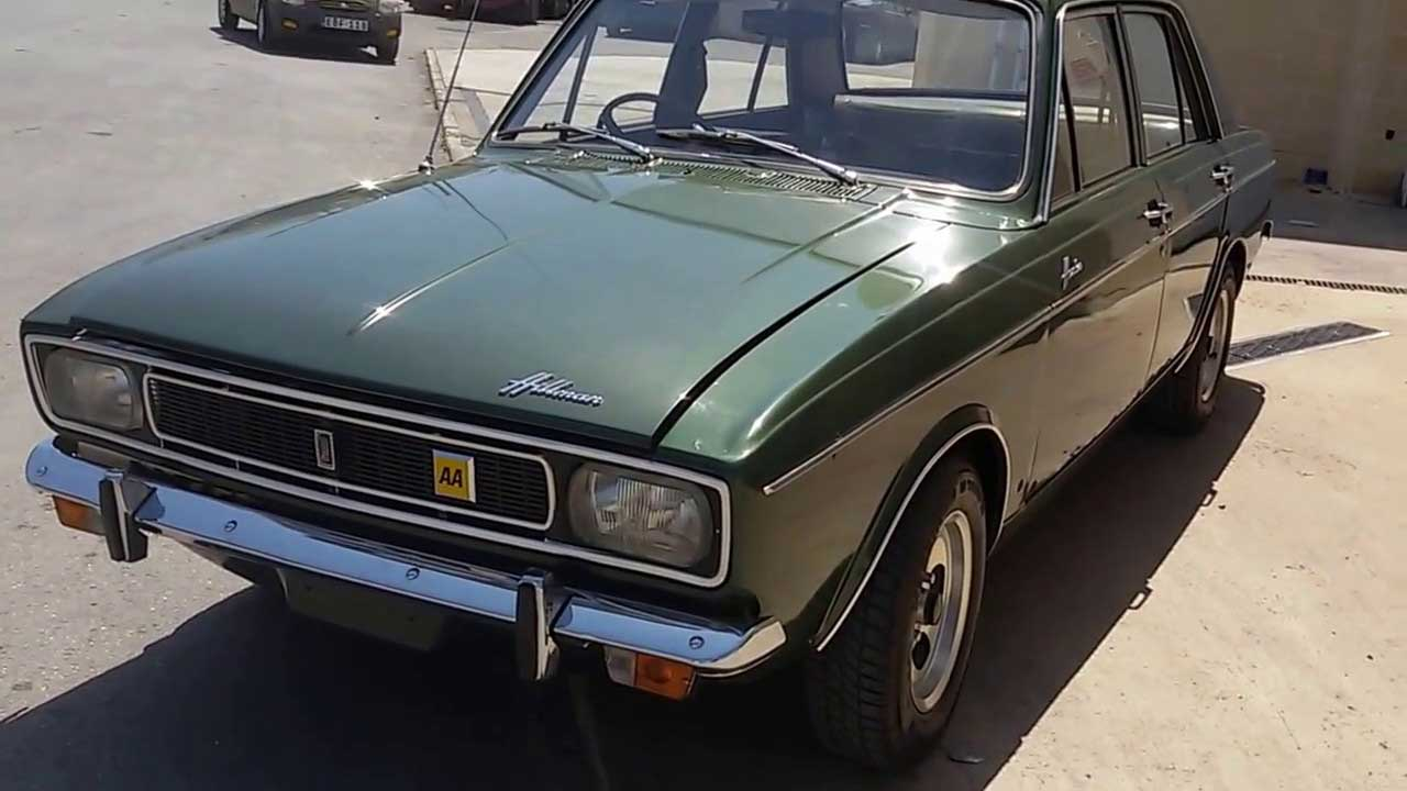Green Hillman Hunter parked