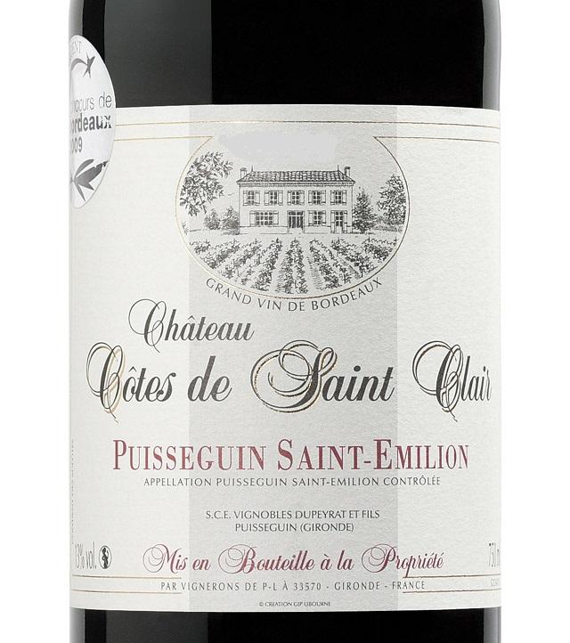 2009 Château Côtes de Saint Clair, Puisseguin-Saint-Émilion, France