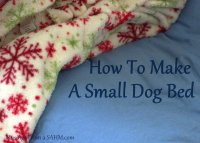 DIY Dog Bed: Frugal & Easy - Musings From a Stay At Home Mom