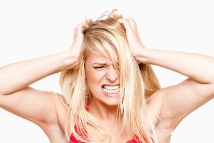 Image result for picture of woman tearing hair out