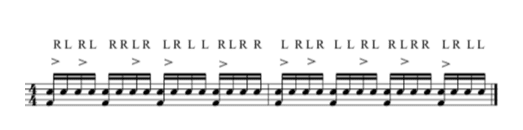 How to play a double paradiddle in 16th notes