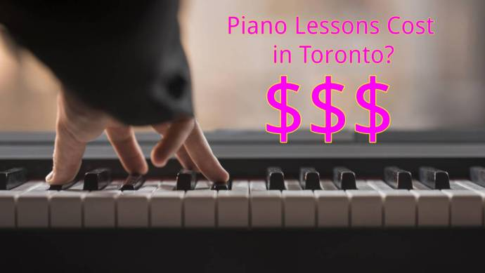 Image saying piano lessons cost in Toronto