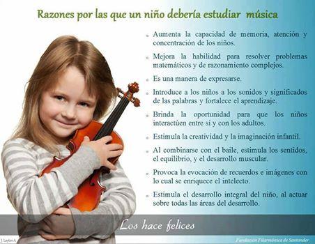 Beneficios de la música en la infancia.