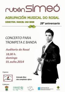 concierto rubc3a9n y banda rosal