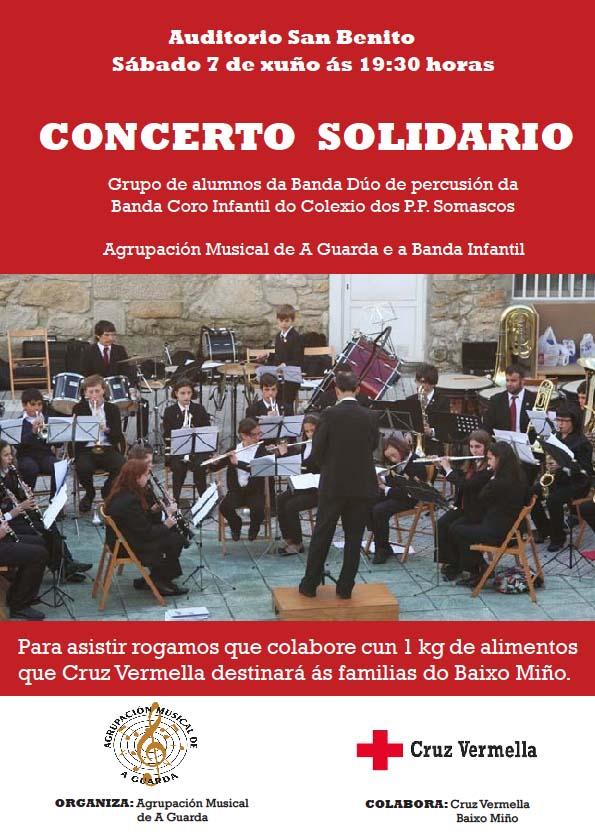 Concierto solidario organizado por la Agrupación Musical de A Guarda