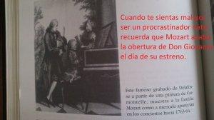Grabado Mozart procrastinador