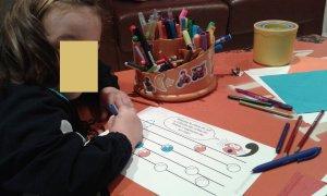 Lámina espacios líneas - Infantil