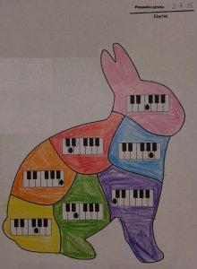 Ficha para colorear el conejo