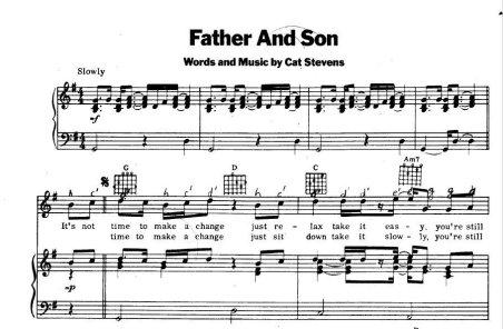 "Partitura de ""Father and Son"""