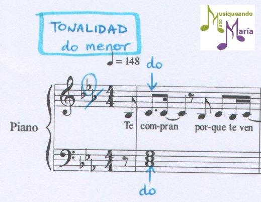 Tonalidad do menor La venda Musiqueando con María