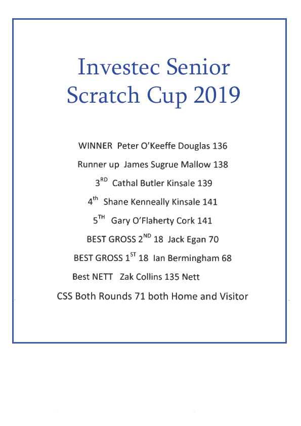 senior scratch cup results